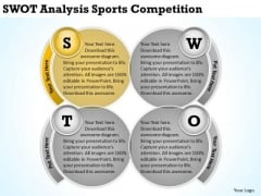 Swot Analysis Sports Competition Develop Business Plan PowerPoint Templates
