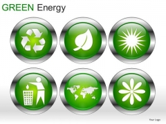 Symbol Green Energy PowerPoint Slides And Ppt Diagrams Templates