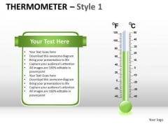 Symbol Thermometer 1 PowerPoint Slides And Ppt Template Diagrams