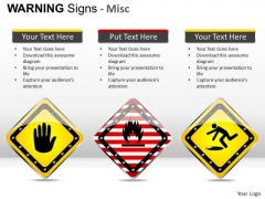 Symbolic Warning Signs PowerPoint Slides And Ppt Template Diagrams