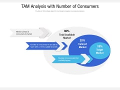 TAM Analysis With Number Of Consumers Ppt PowerPoint Presentation Slides Guide PDF