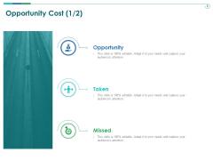 TCM Opportunity Cost Taken Ppt Show Model PDF