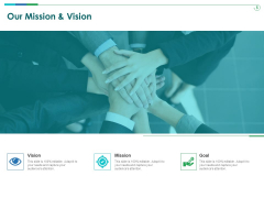 TCM Our Mission And Vision Ppt Infographic Template Shapes PDF