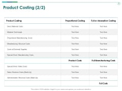 TCM Product Costing Manufacturing Ppt Layouts Example Topics PDF