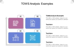 TOWS Analysis Examples Ppt PowerPoint Presentation Ideas Layout Cpb