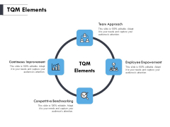 TQM Elements Ppt PowerPoint Presentation Professional Ideas