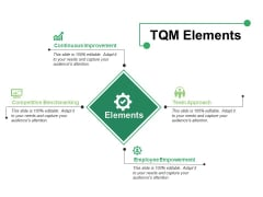 TQM Elements Ppt PowerPoint Presentation Show Sample