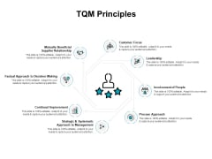 TQM Principles Ppt PowerPoint Presentation Model Vector