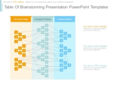 Table Of Brainstorming Presentation Powerpoint Templates