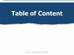 Table Of Content Business Customer Ppt PowerPoint Presentation Complete Deck