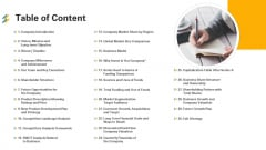 Table Of Content Ppt Outline Brochure PDF