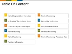 Table Of Content Ppt PowerPoint Presentation Deck