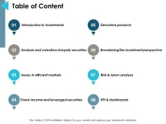 Table Of Content Ppt PowerPoint Presentation Gallery Graphic Tips