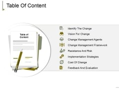 Table Of Content Ppt PowerPoint Presentation Infographic Template Model
