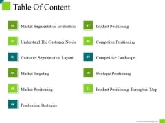 Table Of Content Ppt PowerPoint Presentation Infographic Template Topics
