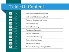Table Of Content Ppt PowerPoint Presentation Outline Portfolio
