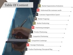 Table Of Content Ppt PowerPoint Presentation Professional Outfit