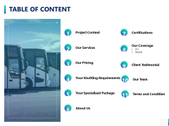 Table Of Content Ppt PowerPoint Presentation Slides Design Inspiration