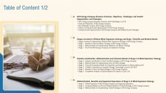 Table Of Content Sample PDF