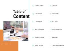 Table Of Content Services Ppt PowerPoint Presentation Ideas Slide Portrait