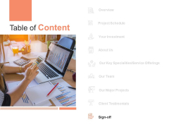Table Of Content Sign Off Ppt PowerPoint Presentation Gallery Icon