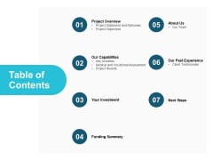 Table Of Contents Capabilities Ppt PowerPoint Presentation Layouts