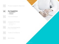 Table Of Contents Capabilities Ppt PowerPoint Presentation Portfolio Guidelines
