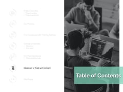 Table Of Contents Planning Ppt PowerPoint Presentation Layouts Rules