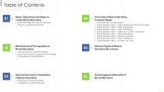 Table Of Contents Ppt Infographics Gridlines PDF