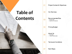 Table Of Contents Ppt PowerPoint Presentation Ideas Example Introduction