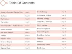 Table Of Contents Ppt PowerPoint Presentation Ideas