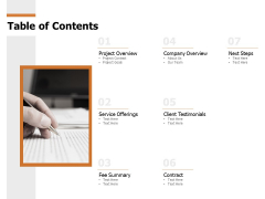 Table Of Contents Ppt PowerPoint Presentation Introduction