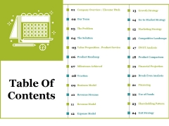 Table Of Contents Ppt PowerPoint Presentation Layouts Shapes
