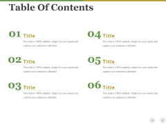 Table Of Contents Ppt PowerPoint Presentation Model Show