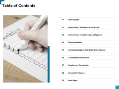 Table Of Contents Ppt PowerPoint Presentation Pictures Slides