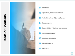 Table Of Contents Ppt PowerPoint Presentation Professional Grid