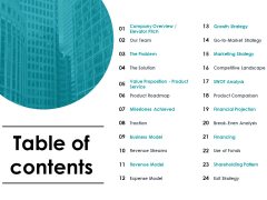 Table Of Contents Ppt PowerPoint Presentation Summary Designs Download