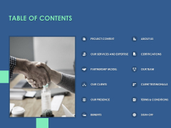 Table Of Contents Services Ppt PowerPoint Presentation Show Design Ideas