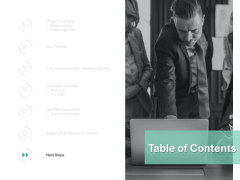 Table Of Contents Strategy Ppt PowerPoint Presentation Layouts Format Ideas