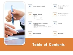 Table Of Contents Summary PDF