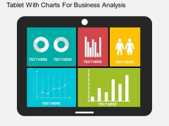Tablet With Charts For Business Analysis Powerpoint Templates