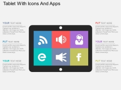 Tablet With Icons And Apps Powerpoint Templates