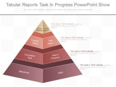 Tabular Reports Task In Progress Powerpoint Show