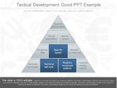 Tactical Development Good Ppt Example