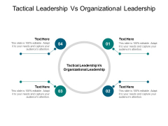 Tactical Leadership Vs Organizational Leadership Ppt PowerPoint Presentation Summary Example Cpb Pdf