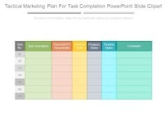 Tactical Marketing Plan For Task Completion Powerpoint Slide Clipart