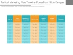 Tactical Marketing Plan Timeline Powerpoint Slide Designs