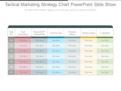 Tactical Marketing Strategy Chart Powerpoint Slide Show