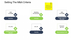 Tactical Merger Setting The M And A Criteria Ppt File Deck PDF