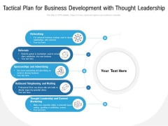 Tactical Plan For Business Development With Thought Leadership Ppt PowerPoint Presentation Outline Deck PDF